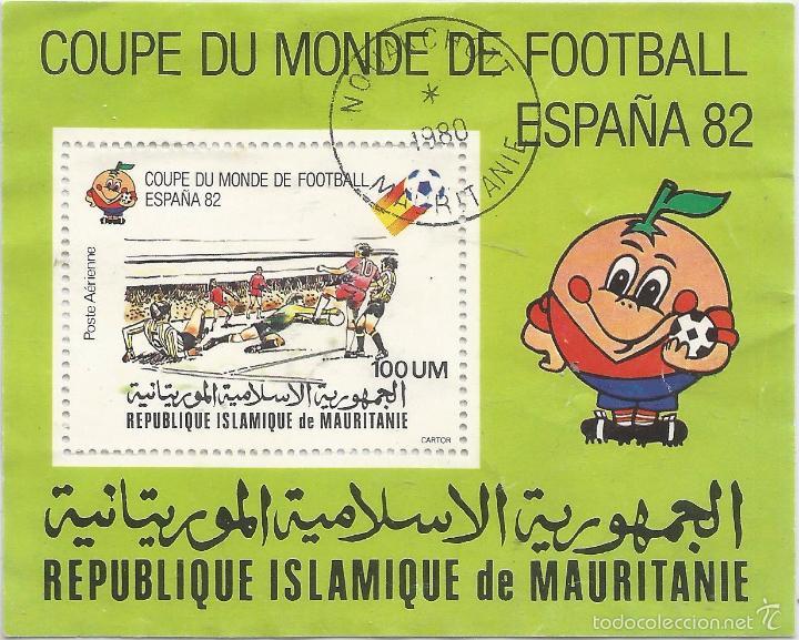** PAA106 - COUPE DU MONDE DE FOOTBALL - ESPAÑA 82 - REPUBLIQUE ISLAMIQUE DE MAURITANIE (Sellos - Historia Postal - Sellos otros paises)