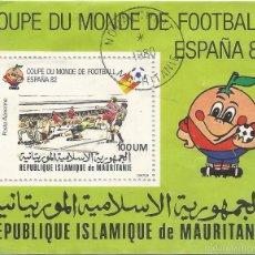 Sellos: ** PAA106 - COUPE DU MONDE DE FOOTBALL - ESPAÑA 82 - REPUBLIQUE ISLAMIQUE DE MAURITANIE. Lote 57406107