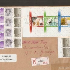 Sellos: HOLANDA.1982. CARTA CERTIFICADA CON CARNET YV.C1168B + HB 22. Lote 58214986