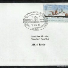 Sellos: ALEMANIA 2001 SOBRE FDC - BARCO PARA INVESTIGACION ANTARTICA - MATASELLOS MOORMERLAND. Lote 58526890