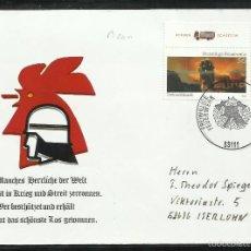 Sellos: ALEMANIA 2002 SOBRE FDC - BOMBEROS - MATASELLOS ERSTAUSGABE. Lote 58527258