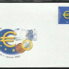 Sellos: ALEMANIA 2002 SOBRE FDC - EUROS . Lote 58565959