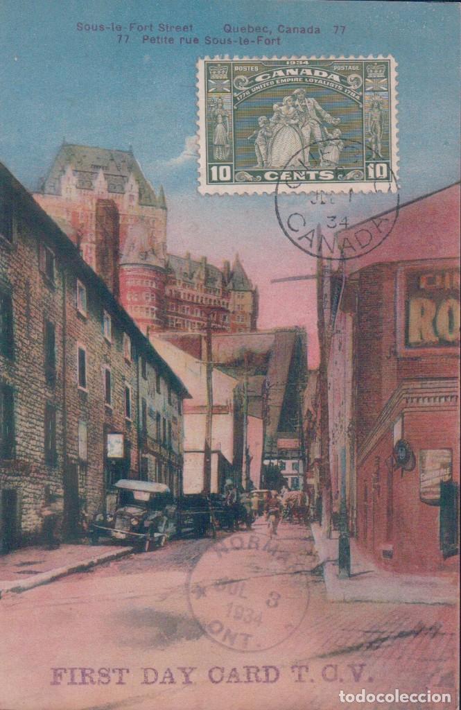 PRIMER DIA CIRCULACION - SOUS LE FORT STREET QUEBEC CANADA.. 77PETITE RUE SOUS LE FORT (Sellos - Historia Postal - Sellos otros paises)