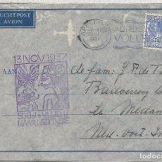 Francobolli: HOLANDA 1937 CC A INDIAS HOLANDESAS MARCA ESPECIAL PRIMER VUELO . Lote 69231901