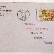 Sellos: SOBRE CIRCULADO 1964. QUEBEC. CANADA.. Lote 72049707