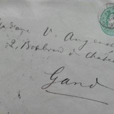 Sellos: ENTERO POSTAL CIRCULADA DE BRUSELAS EN 1890. Lote 73872563