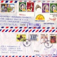 Sellos: FILIPINAS Y BRASIL, 4 BONITOS SOBRES CIRCULADOS (2 DE FILIPINAS Y 2 DE BRASIL).. Lote 75645979