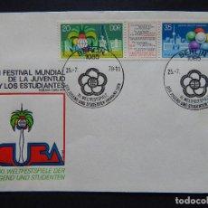 Sellos: XI FESTIVAL MUNDIAL DE LA JUVENTUD Y LOS ESTUDIANTES CUBA HABANA 1978 - BERLIN 25. 7. 1978. Lote 78826521