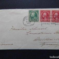 Sellos: DE HONOLULU A ALEMANIA - ANTIGUO SOBRE DE 1925 - VISIT HAWAII NATIONAL PARK OPEN ALL YEAR. Lote 79877285