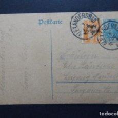 Sellos: ALEXANDERSBAD, BAY. LANG´S HOTEL A LEIPZIG - 1921. Lote 79881113