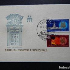 Sellos: FRÜHJAHRSMESSE LEIPZIG 1972 - PORTAL KAFFEEBAUM 1692 - LEIPZIG 12.3.1972 - LEIPZIGER MESSE. Lote 80729170