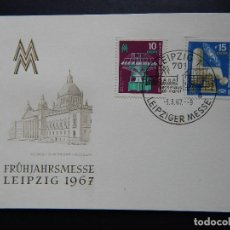 Sellos: FRÜHJAHRSMESSE LEIPZIG 1967 - GEORGI-DIMITROFF-MUSEUM - LEIPZIG 5.3.1967 - MESSEHAUS AM MARKT. Lote 80729442