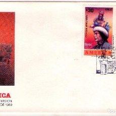 Sellos: CHILE FDC UPAEP 1989 . NUEVA (CRISTOBAL COLON). Lote 80783478