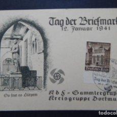 Sellos: TAG DER BRIEFMARKE 12. JANUAR 1941 - DEUTSCHES REICH. Lote 80840035
