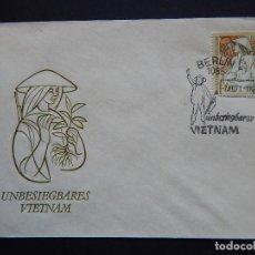 Sellos: SOBRE ALEMÁN. VIETNAM INVENCIBLE - UNBESIEGBARES VIETNAM - DDR - BERLIN 1971. Lote 81734168
