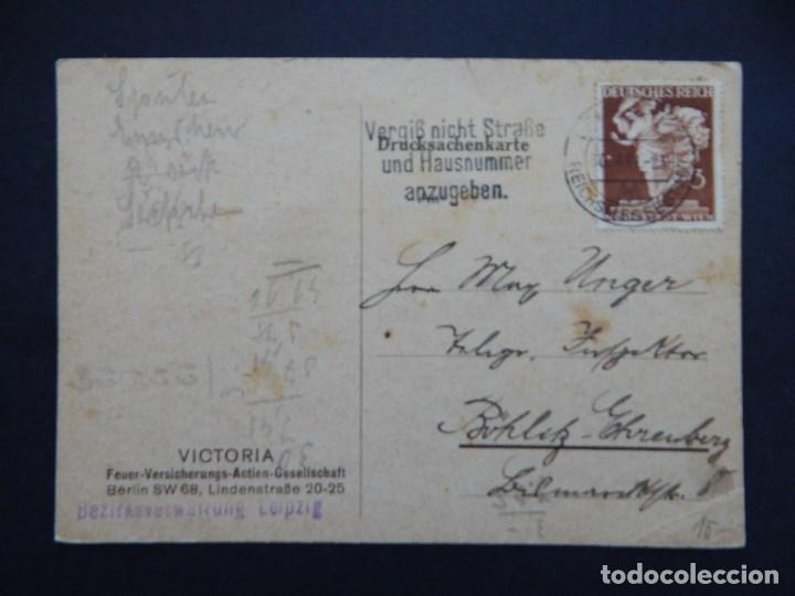 DOCUMENTO ALEMÁN - SEGUNDA GUERRA MUNDIAL, CIRCULADO 30.4.1941 - SELLO, ALEGORÍA DE LA MODA (Sellos - Historia Postal - Sellos otros paises)