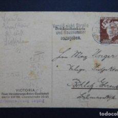 Sellos: DOCUMENTO ALEMÁN - SEGUNDA GUERRA MUNDIAL, CIRCULADO 30.4.1941 - SELLO, ALEGORÍA DE LA MODA. Lote 82708744
