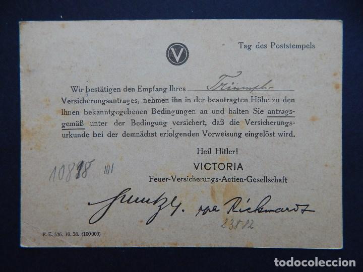 Sellos: Documento alemán - Segunda Guerra Mundial, circulado 30.4.1941 - Sello, Alegoría de la moda - Foto 2 - 82708744