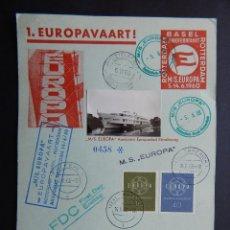 Sellos: TARJETA. BARCOS, MS EUROPA - 5 JUNIO 1960, CRUCERO ESPECIAL PARA CEPT ROTTERDAM-BASEL Y RETORNO. 458. Lote 86259956