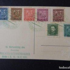 Sellos: CHECOSLOVAQUIA - 15 VERBANDSTAG DES DEUTSCHEN PHILATELISTENVERBANDES HAIDA I. B. 13-14.X.1934. Lote 87156288