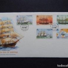 Sellos: SOBRE FDC GUERNSEY 9.2.1988 - BARCOS. ENVÍO - GOLDEN ERA OF SHIPPING. GOLDEN SPUR. HONG KONG. MAC.... Lote 95979002