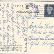 Sellos: HOLANDA CORREO PAQUEBOT NEW YORK BUQUE NIEUW AMSTERDAM OCEAN POST 1949. Lote 93676875