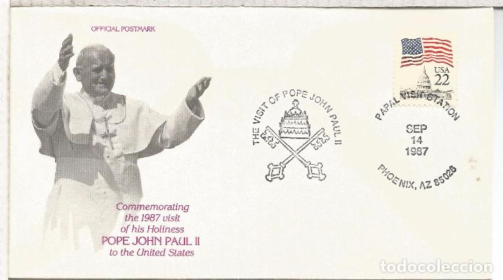 ESTADOS UNIDOS USA PHOENIX VISITA PAPA POPE JUAN PABLO II ARIOZONA (Sellos - Historia Postal - Sellos otros paises)