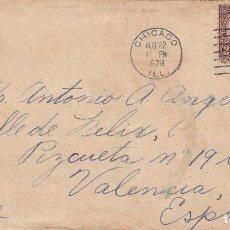 Sellos: ESTADOS UNIDOS. SOBRE CIRCULADO CHICAGO A VALENCIA 1929. YVERT 230, 232. REVERSO RODILLO LLEGADA.. Lote 98196091