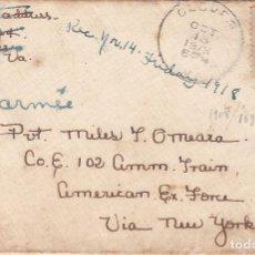 Sellos: ESTADOS UNIDOS. SOBRE CIRCULADO A VALENCIA 1918. YVERT 169. REVERSO VIÑETA 'MY (CORAZÓN) IS IN.... Lote 98196435