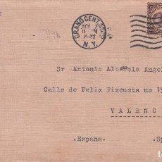 Sellos: ESTADOS UNIDOS. SOBRE CIRCULADO A VALENCIA 1927. YVERT 230-232. REVERSO . RODILLO LLEGADA VALENCIA.. Lote 98355195