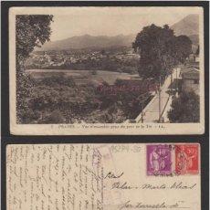 Sellos: POSTAL 1 PRADES (FRANCIA) - - AÑO 1937 CON CENSURA REPUBLICA ESPAÑOLA CIRCULADA . Lote 102957551