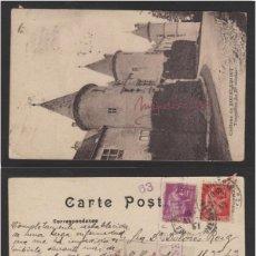 Sellos: POSTAL FRANCIA -TOURELLES AÑO 1937 - CASTILLO DE BOURLEMONT - CON CENSURA REPÚBLICA ESPAÑOLA . Lote 102961359