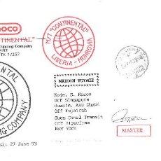 Sellos: SOBRE CIRCULADO. EGIPTO, 1993. COMPAÑÍA MARÍTIMA. Lote 103548299