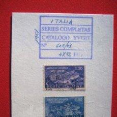 Sellos: SERIE DE SELLOS DE ITALIA PROTEGIDOS CON FILM Y CARTULINA. Lote 104064031