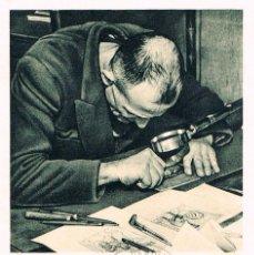 Sellos: FRANCIA, DECARIS, GRABADOR DE SELLOS GRABANDO CON UN PUNZÓN, MATASELLO DE 24-3-1968. Lote 110661107