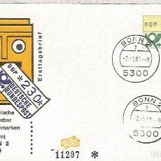 Sellos: ALEMANIA FDC ATM BONN 2. Lote 116628019