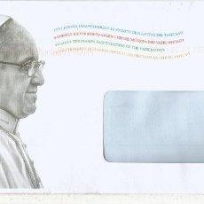 Sellos: VATICANO ENTERO POSTAL PAPA FRANCISCO POPE RELIGION. Lote 121640743