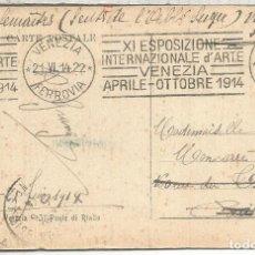 Sellos: ITALIA 1914 TP VENEZIA CON MAT RODILLO XI EXPOSIZIONE D´ARTE ARTE. Lote 121641783