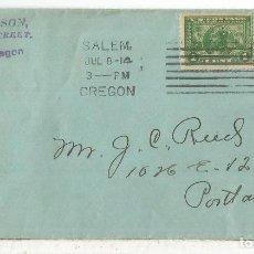 Sellos: ESTADOS UNIDOS USA CC 1914 SALEM SELLOS X 2 NUÑEZ DE BALBOA JEREZ DE LOS CABALLEROS BADAJOZ. Lote 121642819