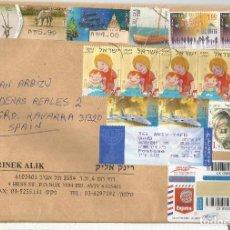 Sellos: ISRAEL CC CERTIFICADA SELLOS ATM NAVIDAD CIENCIA DRON INFANCIA BARCO . Lote 121648867