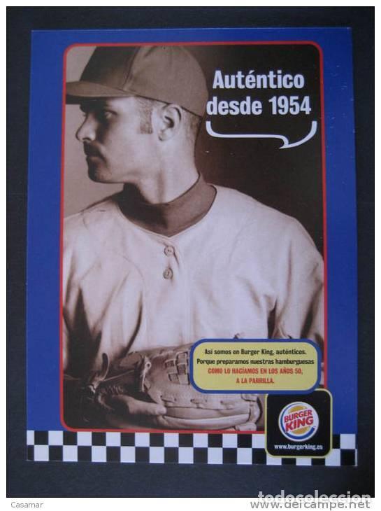 Spain Burger King Baseball Beisbol Gastronomy Food Post Card