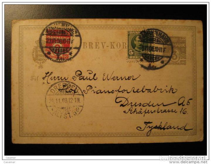 Copenhagen 1908 To Dresden Allemagne Germany Br Buy