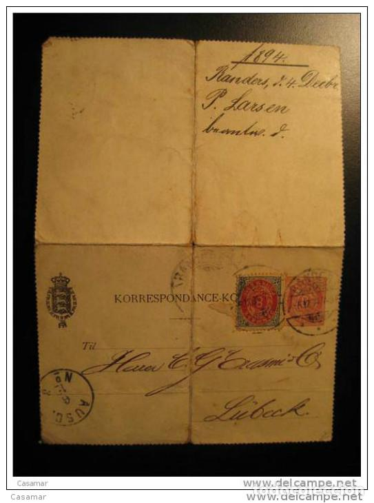 Randers 1894 To Lubeck Germany Allemagne Ausc C Buy