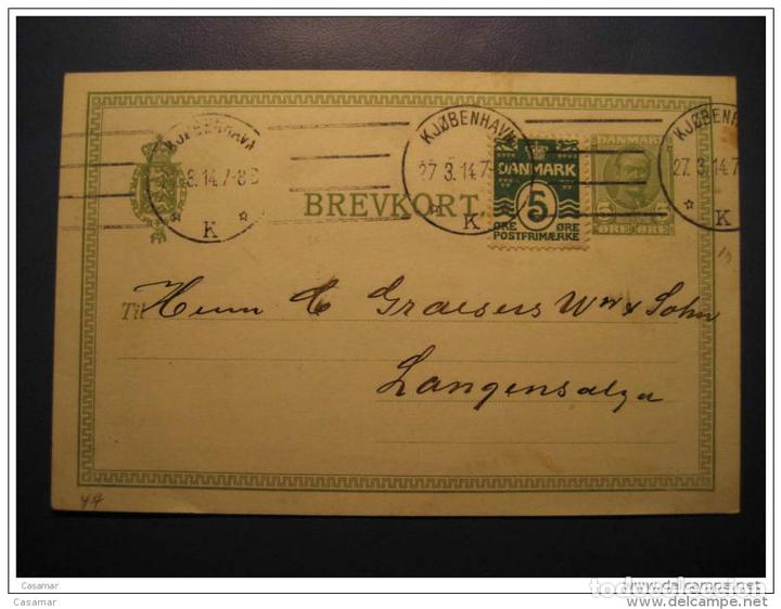 Kjobenhavn 1914 To Langensalza Germany Stamp On Buy