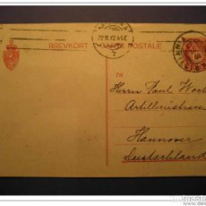 Sellos: 1912 KRISTIANIA TO HANNOVER POSTAL STATIONERY. Lote 123807543