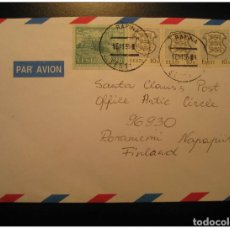 Sellos: RAPINA 1995 4 STAMP ON AIR MAIL COVER ESTONIA RUSSIA AREA. Lote 123826668