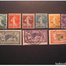 Sellos: SEMEUSE YVERT 137/45 CAT. 2002: 7,45 EUR USED FRANCE STAMP. Lote 123834239