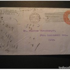 Sellos: NEW YORK 1901 POSTAL STATIONERY COVER USA. Lote 123836034