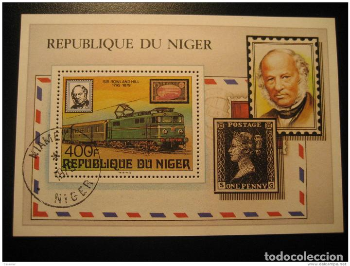 Niamey 1979 Cancel Block One Penny Black Rowland Hill Stamp On Stamp Stamps  On S