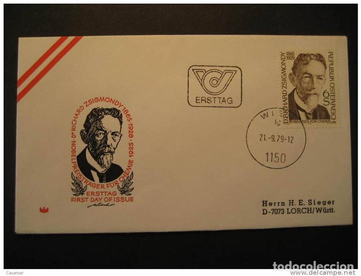 AUSTRIA WIEN 1979 ZSIGMONDY CHIMIE CHEMISTRY QUIMICA PRIX NOBEL PRIZE LAUREATES Sellos